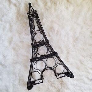 Wrought Iron Eiffel Tower Wine Rack